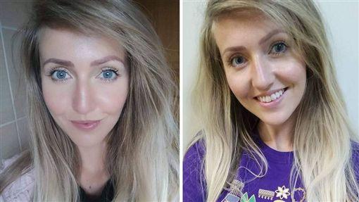 愛美是女人的天性,不少女人會透過化妝增加自信。不過愛爾蘭有一名24歲女子艾咪(Amy Robb),她擔心卸妝變醜,長達5年沒有用「真面目」見人,就連她男友也沒看過她的素顏!(圖/Amy Robb臉書)