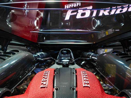▲Ferrari F8 Tributo搭載強勁的V8引擎。(圖/Ferrari提供)