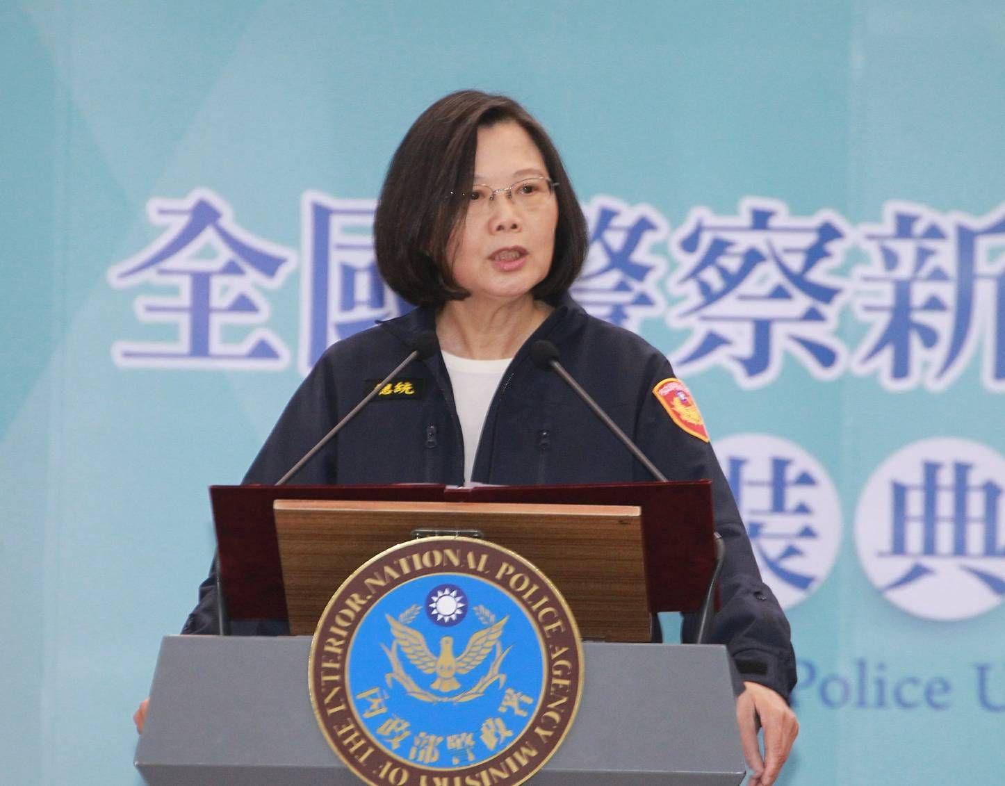 蔡英文總統18日出席「全國新式警便服換裝典禮」。(圖/記者邱榮吉攝)