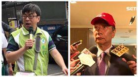 ▲段宜康、郭台銘(組合圖,翻攝臉書、資料照)