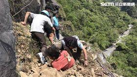 花蓮6.1地震,中橫遊客遭落石砸傷