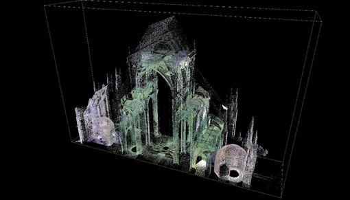 聖母院重建將費時多年,在重建過程中,泰隆的掃描數據將是相當寶貴的。(圖/翻攝自官網)