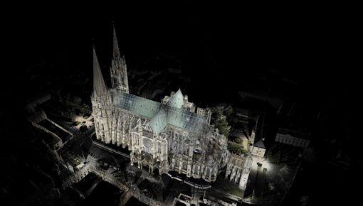 已故藝術史學家泰隆的聖母院3D雷射掃描數據,可望對重建帶來不少幫助。(圖/翻攝自官網)