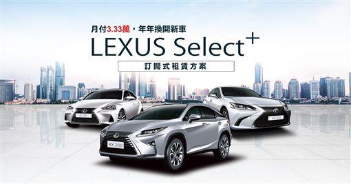 ▲和運租車推出LEXUS Select+訂閱式租賃服務。(圖/和運提供)