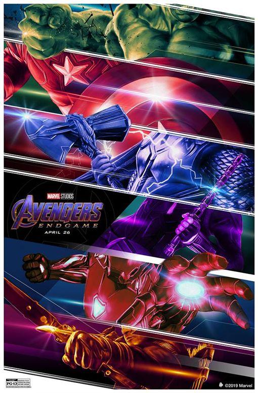 復仇者聯盟4,再釋第3款海報。(圖/翻攝自復仇者臉書)