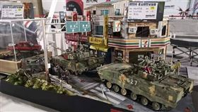 中國坦克台北街頭模型。