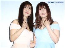 日本人氣av女優大槻響與波多野結衣一同參與2019台北國際酒展公益活動。(記者林士傑/攝影)