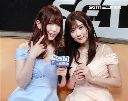 波多野結衣(左)與大槻響兩人接受《三立新聞網》專訪。(圖/記者邱榮吉攝影)