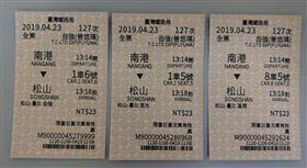 台鐵新售票系統車票
