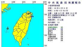 20190421地震 (圖/中央氣象局)