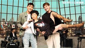 藍心湄(中)在新戲與新加坡演員黃俊雄(左)、陳羅密歐(右)小鮮肉擦出火花。(圖/拙八郎提供)
