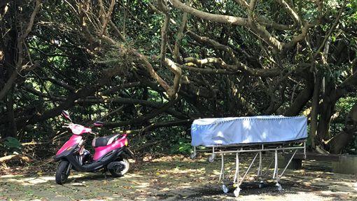 新北市富貴角公園停車場上吊自殺事件現場(翻攝自「北海岸全民聯盟公社」)