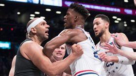 NBA/推人引亂鬥 達利遭罰77萬 NBA,季後賽,布魯克林籃網,費城七六人,Jared Dudley,Jimmy Butler,罰款 翻攝自推特