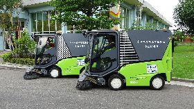 中市引進電動小型掃街車(1)