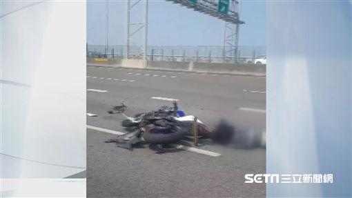 苗栗18歲男騎重機上國道追撞油罐車亡