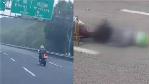 苗栗18歲男騎重機上國道追撞油罐車亡/翻攝自爆廢公社公開版