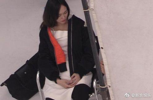 唐嫣疑似懷孕。(圖/微博)
