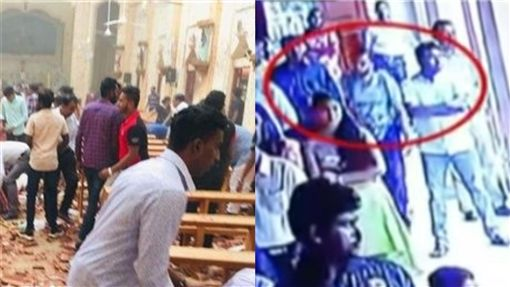 斯里蘭卡,恐攻, 炸彈客,宗教 (合成圖/翻攝YouTube  TV9)