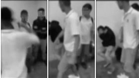 台北,高中,霸凌,揮拳,毆打,抽菸,屁孩。翻攝自爆料公社