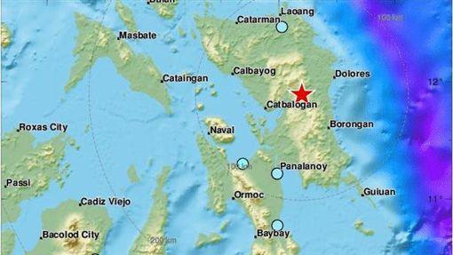 菲律賓再度發生規模6.3強震(圖/翻攝自推特)