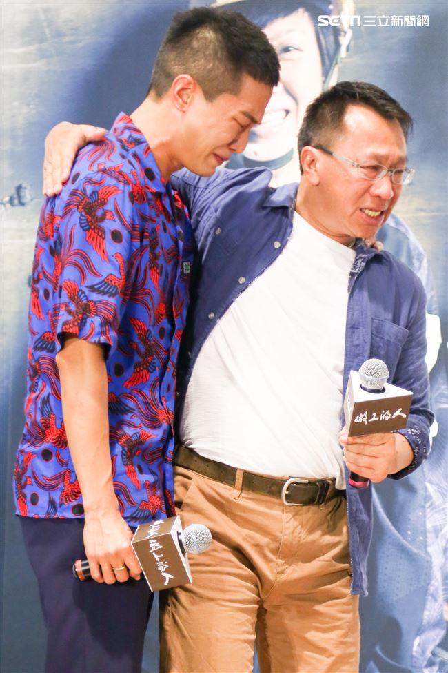 新戲《做工的人》殺青暨卡司發布會,演員薛仕凌、游安順。(記者林士傑/攝影)