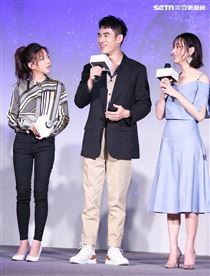 平行時空劇《如果愛,重來》首映會,演員陳妤、張書豪、柯佳嬿。(記者林士傑/攝影)