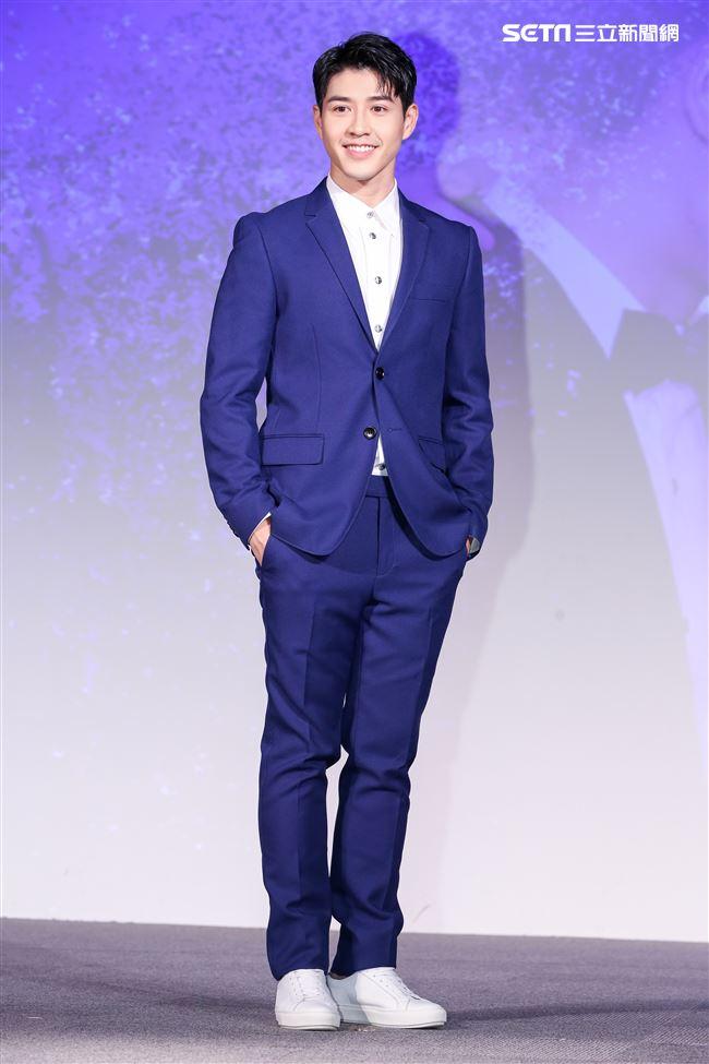 平行時空劇《如果愛,重來》首映會,演員吳岳擎。(記者林士傑/攝影)