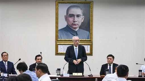 國民黨主席吳敦義主持中常會。 (圖/記者林敬旻攝)