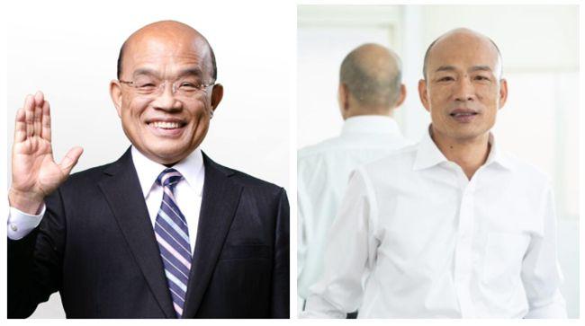 「政壇兩大秃頭要見面了」 韓國瑜明天終於要出席行政院會