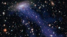 大水母星系(圖/翻攝自推特)