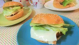 早餐、飲食、漢堡、起司(圖/記者楊晴雯攝)