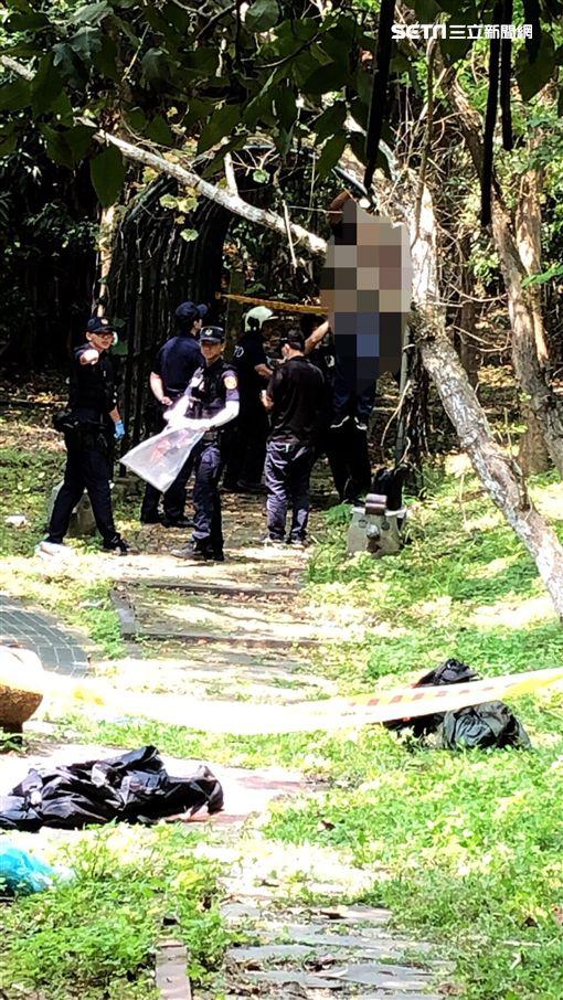 台北市奇姓男子上吊自殺現場(讀者提供)