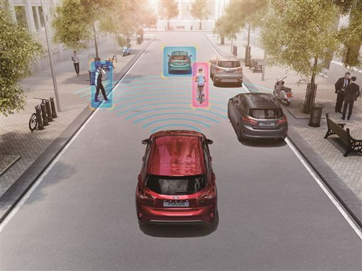 ▲All-New Ford Focus配備AEB全速域輔助煞停系統。(圖/Ford提供)