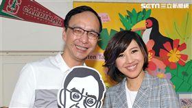 朱立倫、台視當家主播林益如和晨間主播劉宜 圖/台視提供