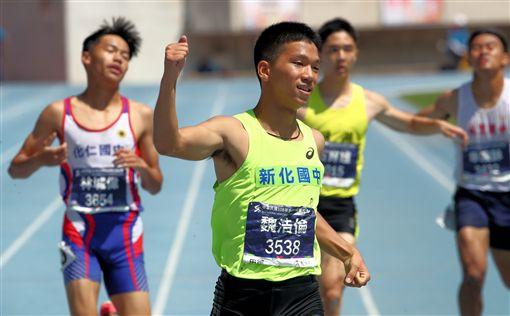 ▲魏浩倫再破國男200公尺大會紀錄。(圖/全中運提供)