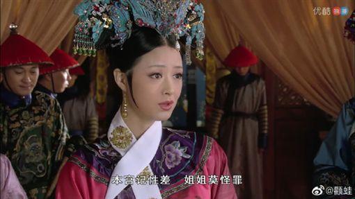 蔣欣、華妃。(圖/微博)
