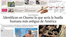 據信是美洲最古老足跡!智利發現1萬5600年前人類腳印/twitter
