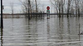 加拿大洪患(圖/翻攝自推特)