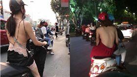 連日高溫!越南正妹清涼「露側乳半球」 這景象讓網友暴動(圖/翻攝自中國報)