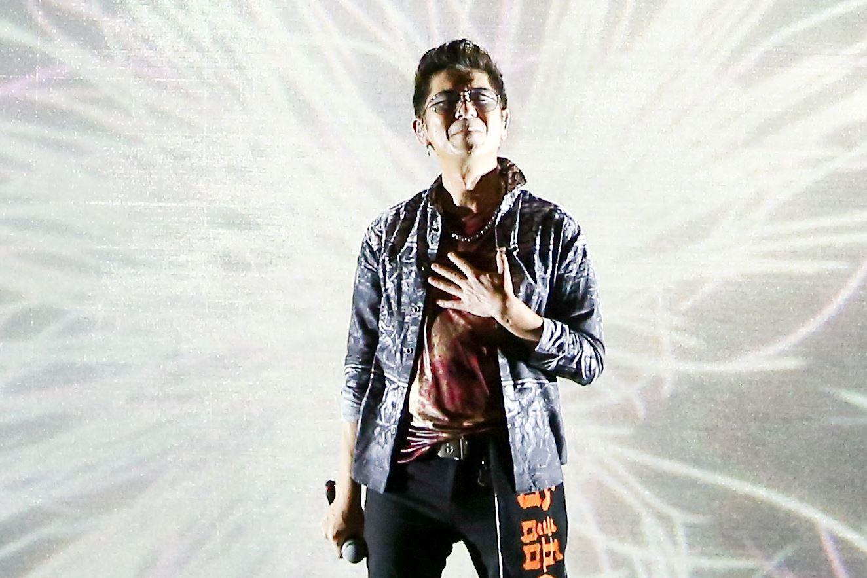 2019台潮盛典演唱歌手荒山亮演出。(記者林士傑/攝影)