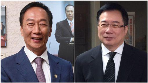鴻海董事長郭台銘、前立委蔡正元,合成圖/翻攝自臉書