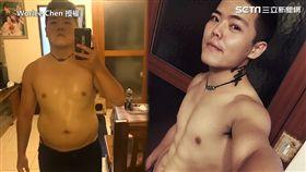 (圖)破百胖哥半年鏟肉26公斤 變身八塊肌曝瘦身菜單