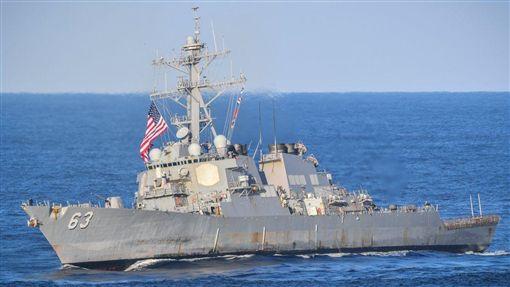 美艦28日通過台灣海峽 107年7月至今第7次