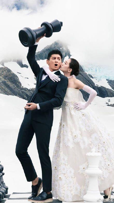 吳奇隆跟劉詩詩/微博