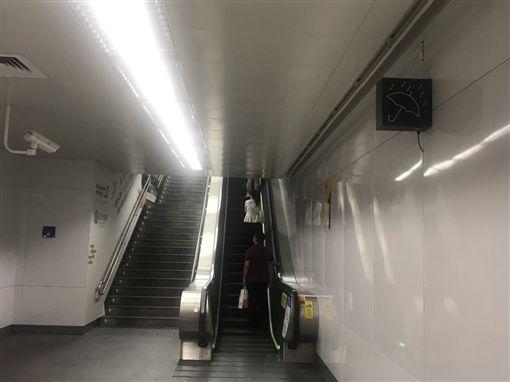 北捷車站下雨暗號