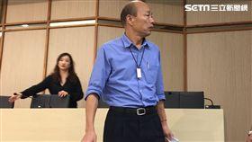 ▲韓國瑜主持選舉帳務說明(圖/記者林昱孜攝影)