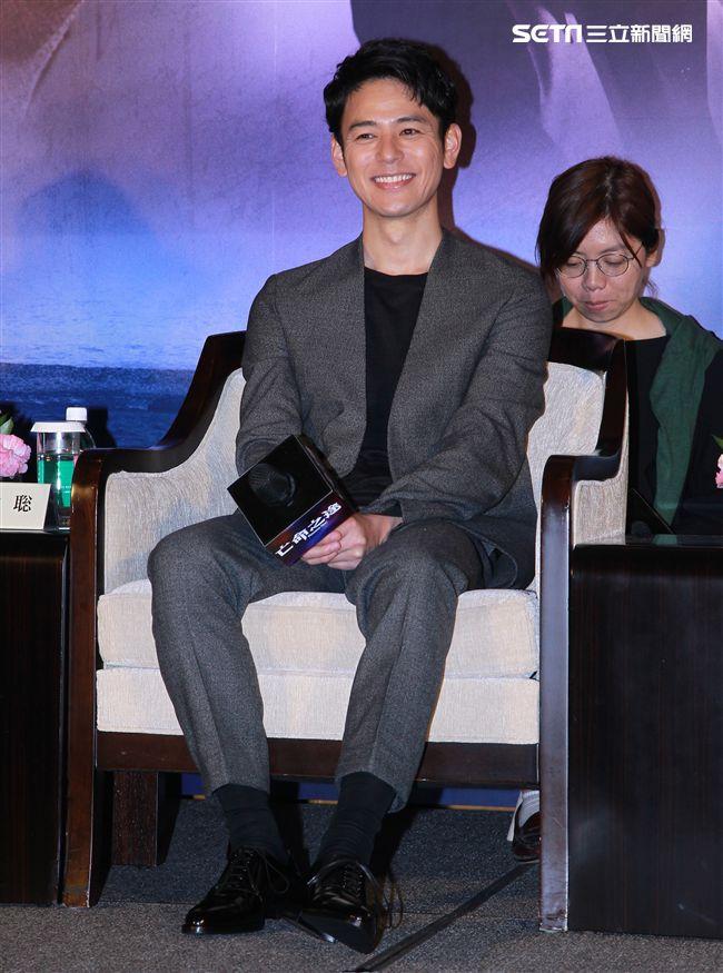 犯罪懸疑大片「亡命之途」演員妻夫木聰。(記者邱榮吉/攝影)