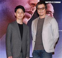 犯罪懸疑大片「亡命之途」演員妻夫木聰、豐川悅司。(記者邱榮吉/攝影)