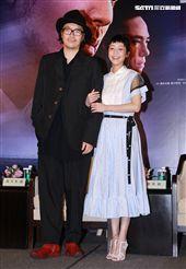 罪懸疑大片「亡命之途」導演半野喜弘、演員謝欣穎。(記者邱榮吉/攝影)