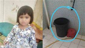 水桶,浴室,倒頭栽,哺乳,搶救,馬來西亞,溺斃,頭 圖/翻攝自Sinarharian